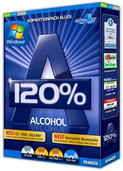 Alcohol 120% 2.1.0 Build 20601 Final Retail + crack [На русском]