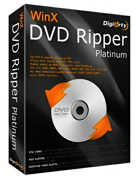 WinX DVD Ripper Platinum 8.9.0.216 + patch [Русификатор]