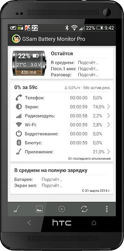 GSam Battery Monitor Pro 3.19 [На русском]