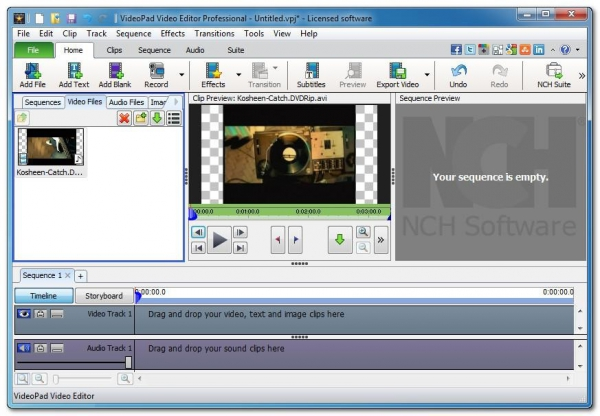 NCH VideoPad Video Editor Professional 3.60 Portable (редактор видео)