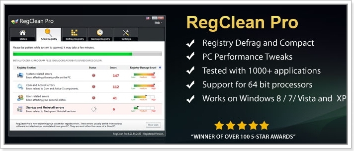 SysTweak Regclean Pro 8.3.81.1137 Final + ключ [На русском]