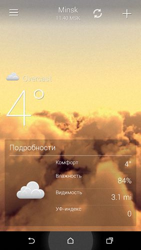 3D Weather Live Wallpaper 2.3 [На русском]