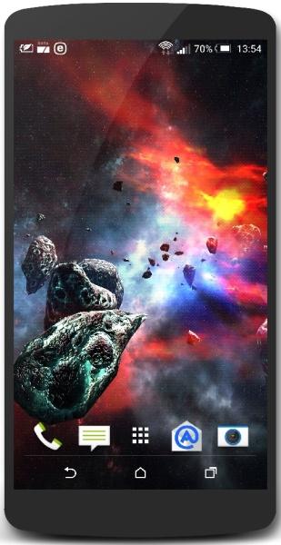Asteroids Pack 1.3 (космические живые обои для android)