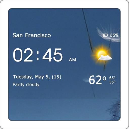 Transparent Clock & Weather 0.90.03.03 [На русском]