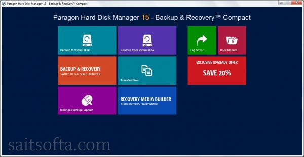 Paragon Hard Disk Manager 15 Backup & Recovery Compact 10.1.25.813 + keygen (2016) ENG