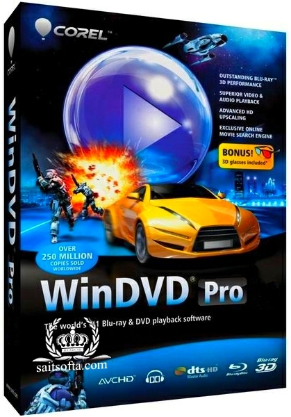 Corel WinDVD Pro 12.0.0.243 SP7 + keygen [Русификатор] + Portable