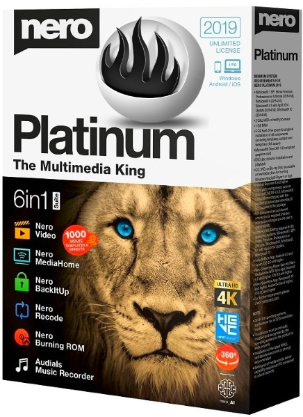 Nero Platinum 2019 Suite 20.0.06800 + patch [На русском] + Content Pack