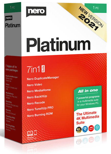 Nero Platinum Suite 2021 23.0.1010 + patch [На русском] + Content Pack