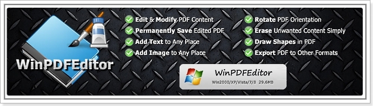 WinPDFEditor 3.2.6.4 + cracked (2016) ENG