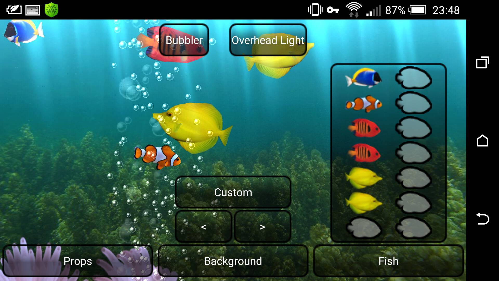 Обои на рабочий стол рыбки плавают аквариум