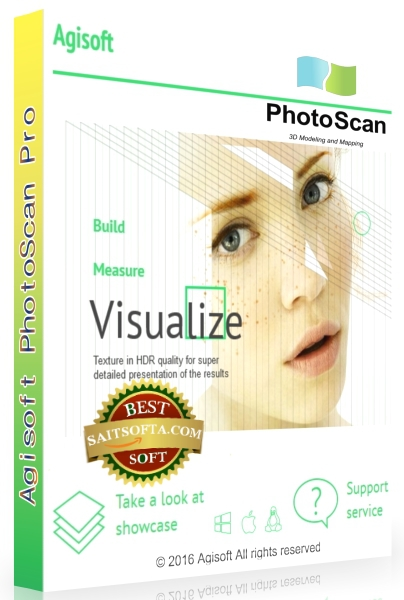 Agisoft PhotoScan Professional 1.2.7 Build 3100 + keygen [На русском]