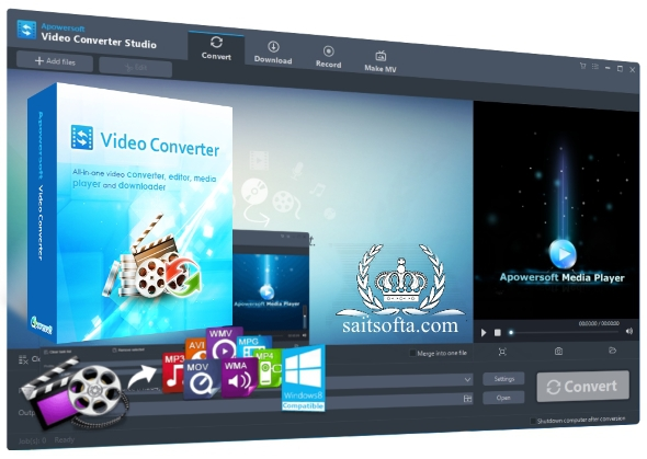 Apowersoft Video Converter Studio 4.5.7 (Build 02/14/2017) + cracked [Русификатор]